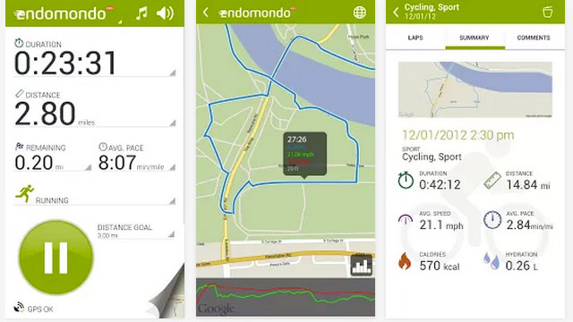 top paid android apps endomondo