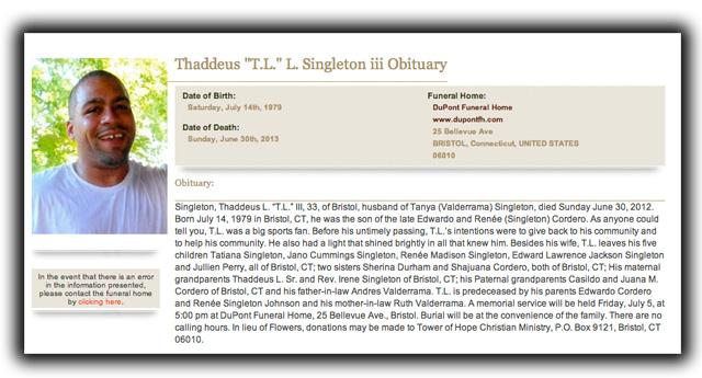 Tanya Singleton Aaron Hernandez Trial Odin Lloyd Murder Thaddeus Singleton Bristol Connecticut Murder Weapon.