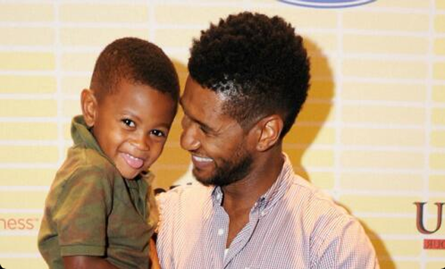 Usher and son