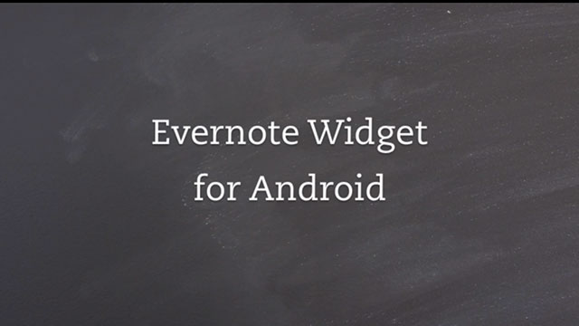 best widgets for android evernote widget