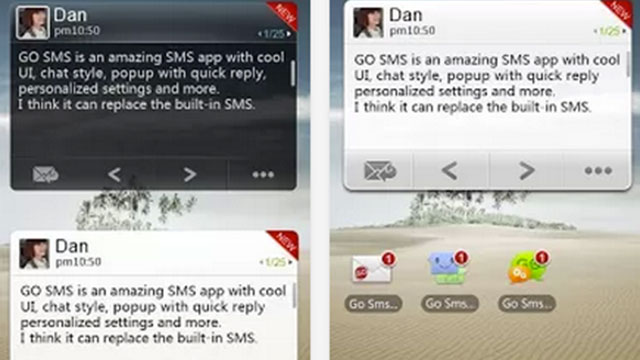 best widgets for android go sms pro widget