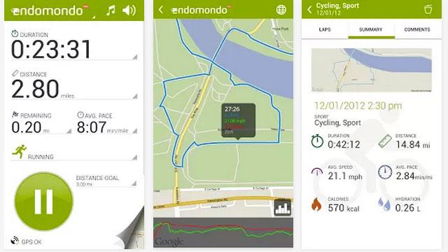 endomondo sports tracker pro android app