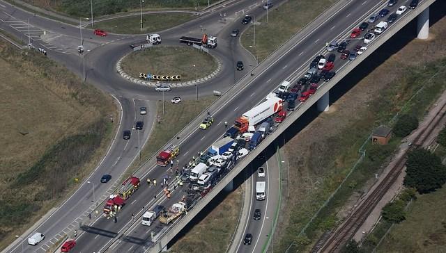 100-vehicle Crash