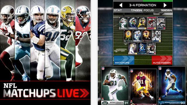 nfl matchups live iphone app