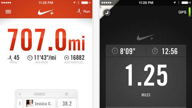 nike+ running iphone 5s app