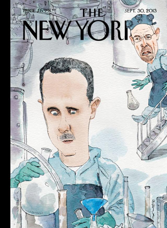 Bashar al-Assad Syria New Yorker Cover, Bashar al-Assad New Yorker, Bashar al-Assad Walter White