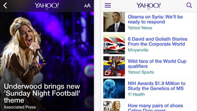 yahoo iphone 5s app