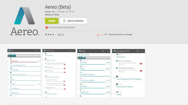 aereo-app-android-features