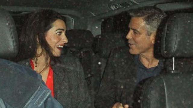George Clooney Dating Monika Jakisic, Amal Alamuddin Wikileaks, Amal Alamuddin Dating George Clooney, George Clooney Mystery Woman, Amal Alamuddin George Clooney