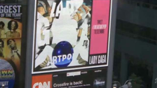 Lady Gaga Art Pop Cover Reveal Times Square, Lady Gaga Art Pop Livestream Video, I Heart Art Pop
