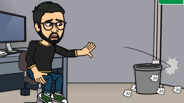 Yours truly via Bitstrips.