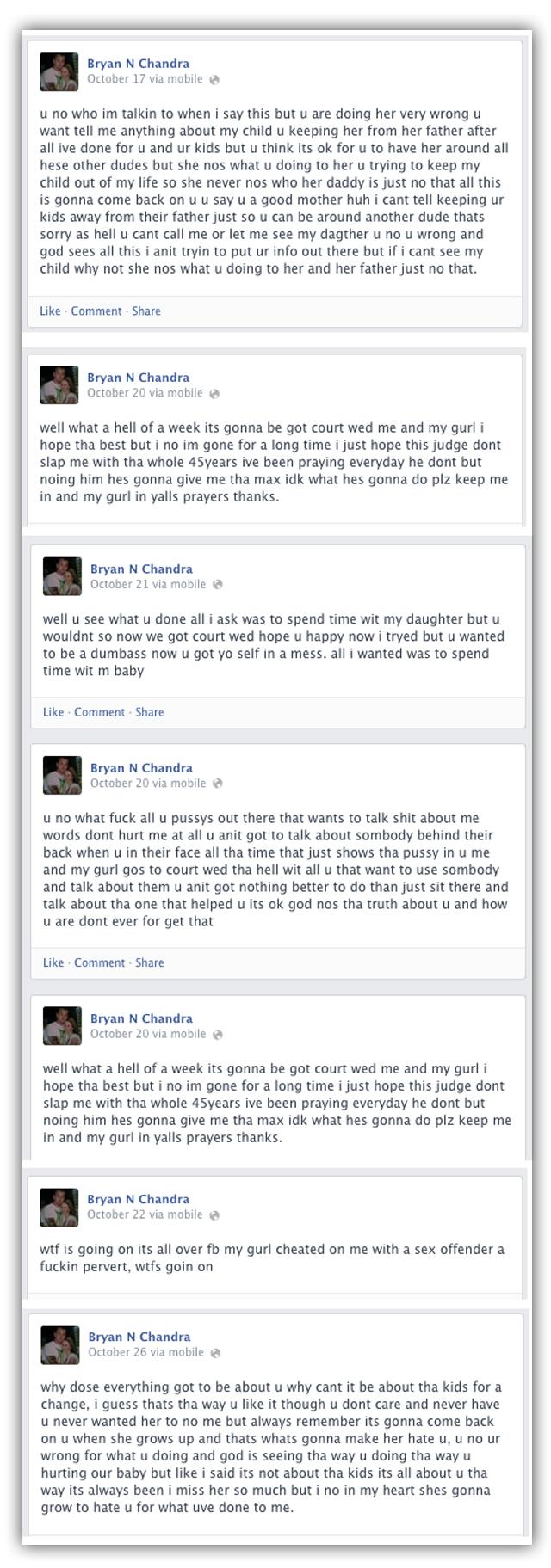 bryan sweatt facebook rants