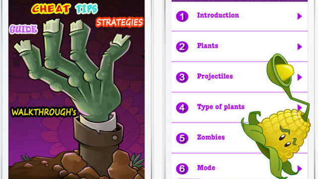 complete guide for plants vs zombies iphone app