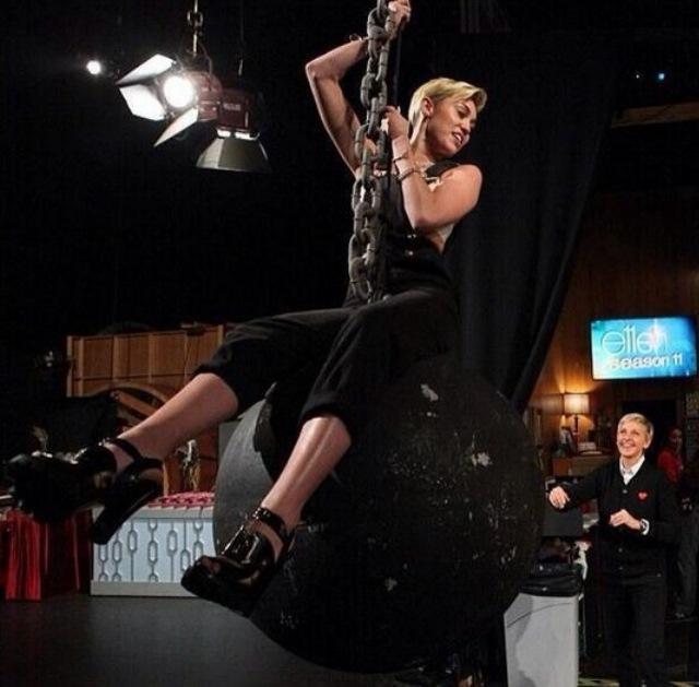 Ellen Miley Cyrus Wrecking Ball, Miley Cyrus Ellen We Can't Stop, Miley Cyrus Ellen DeGeneres Movement