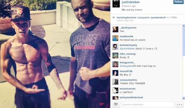 Justin Bieber Abs Trainer, Justin Bieber Abs Jacked Photo Instagram, Justin Bieber Instagram Abs Photo Body, Justin Bieber Jacked Body Buff