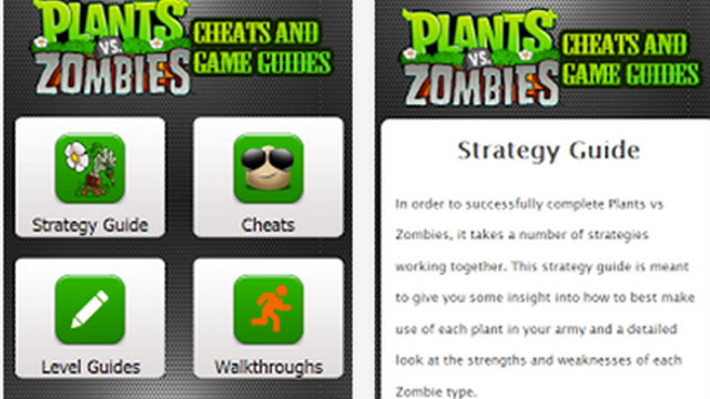 plants vs zombies cheats guide android app