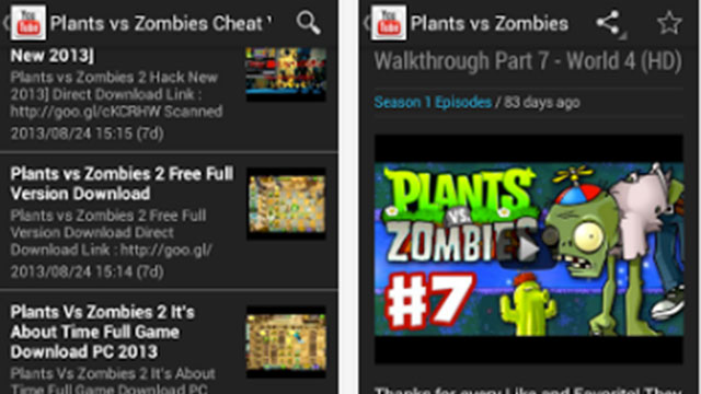 plants vs zombies cheats free app cheats android app