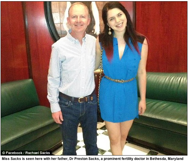 Rachael Sacks with her father via The Daily Mail