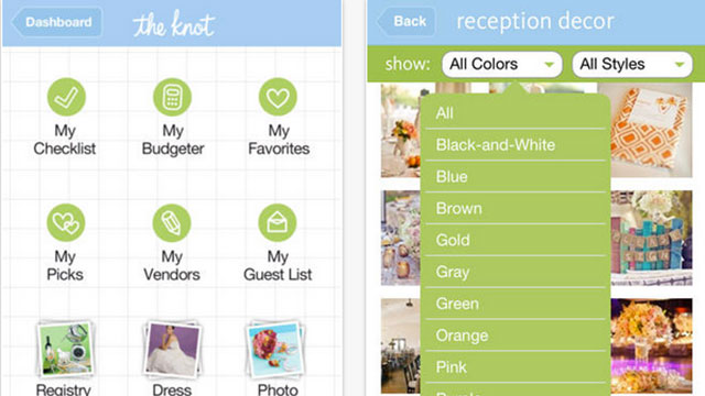 the knot iphone app