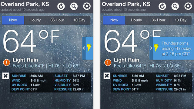 the weather channel app for iphone