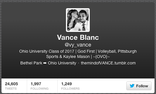 vance blank twitter page cache