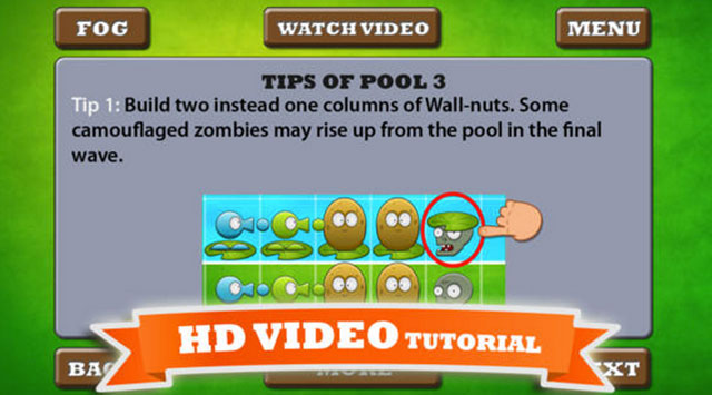 video guide for plants vs zombies  iphone app