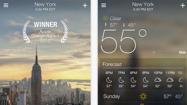 yahoo weather app for iphone