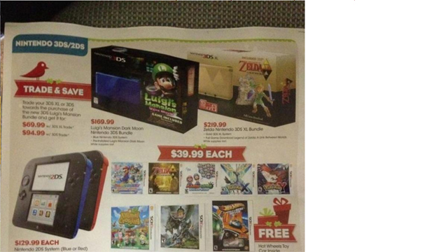 Black Friday 2013 3DS 2DS