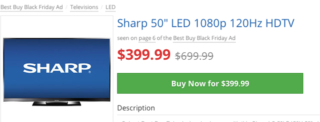 6sharp 50in 1080p 120hz 399d