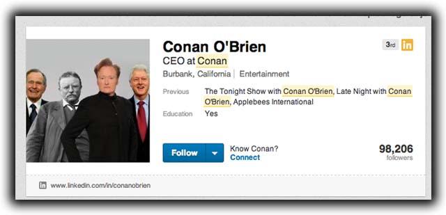 Conan O'Brien Trish Regan Richard Branson Linkedin Conan O'Brien to Rule LinkedIn Richard Branson Response Richard Branson Trish Regan