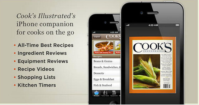cook's illustrated iphone app