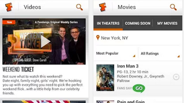 fandango movies android app