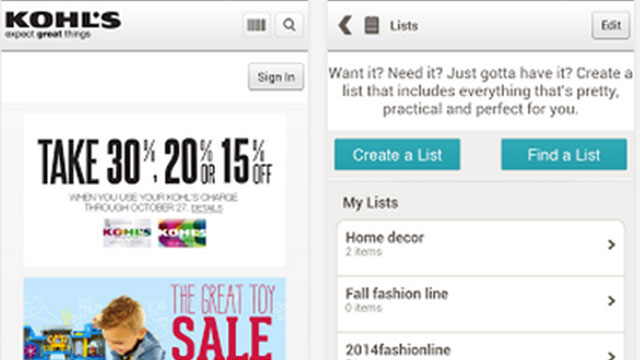 kohls iphone android app