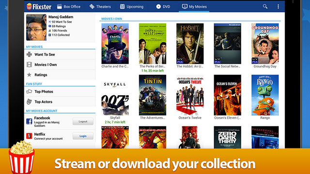 movies by flixster android app