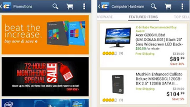 newegg iphone android app
