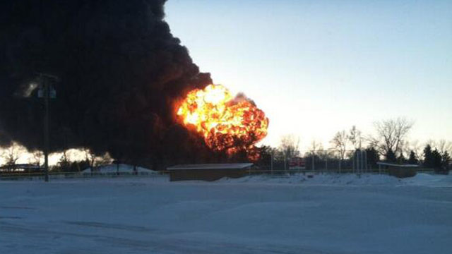 Casselton North Dakota Fireball Train Derailment Crash