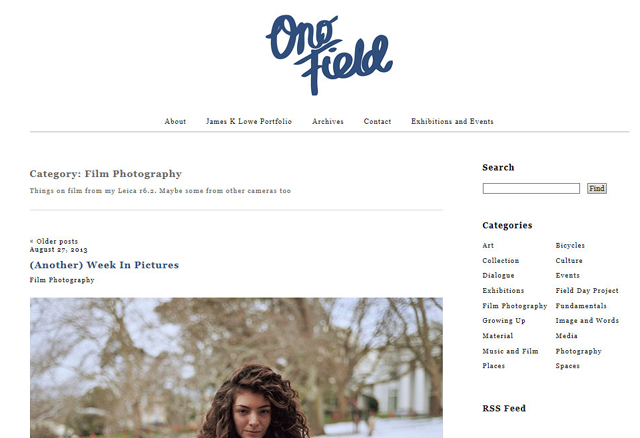 Film Photography – Ono Field by James K Lowe - Internet Explorer 12172013 90549 AM