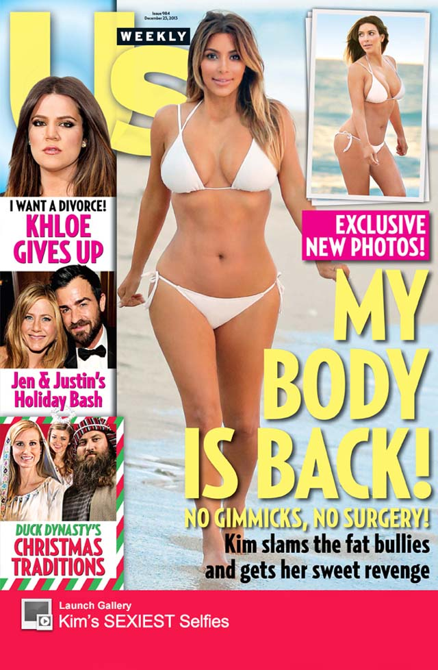 Kim Kardashian Bikini Photos Post-Baby, Kim Kardashian Body After Baby, Kim Kardashian Us Weekly Bikini, Kim Kardashian Post-Baby Body, Kim Kardashian After Baby Bikini Pics, Kim Kardashian First Bikini Pics