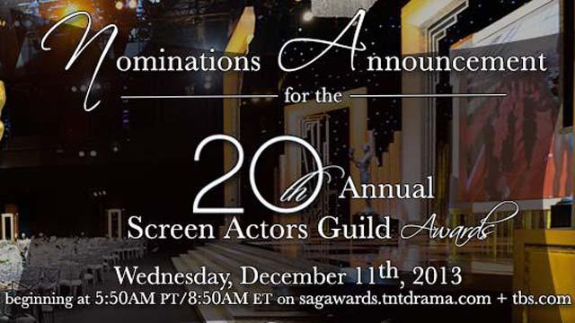 SAG Awards Nominations 2014, SAG Awards 2014, SAG Nominees List 2014, Screen Actors Guild Awards List 2013
