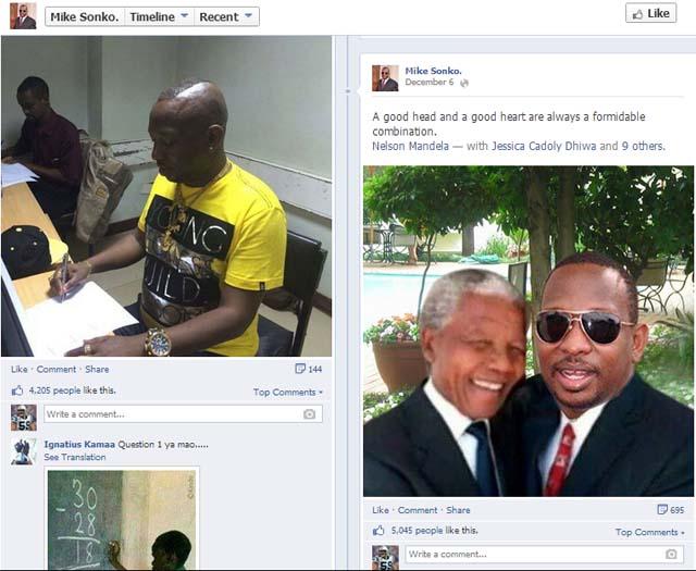 Mike Sonko photoshop, Nelson Mandela