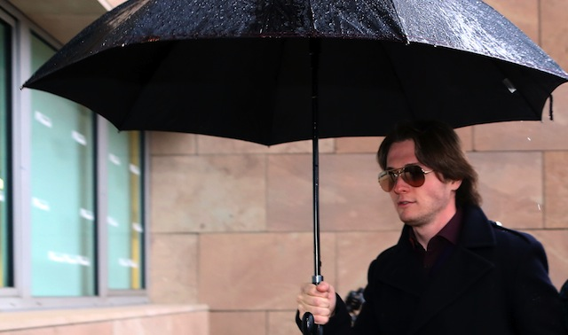 FLORENCE, ITALY - JANUARY 30: Raffaele Sollecito arrives at the Nuovo Palazzo di Giustizia courthouse of Florence for the final verdict of the Amanda Knox and Raffaele Sollecito retrial on January 30, 2014 in Florence, Italy. (Getty)