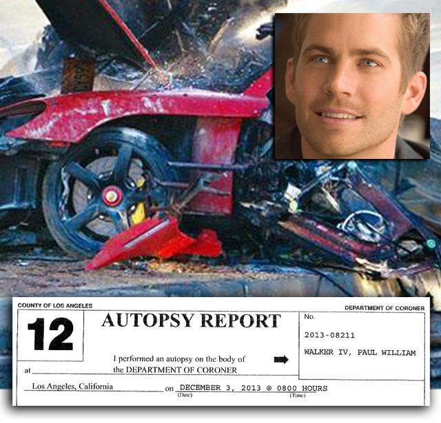paul walker autopsy read the full report