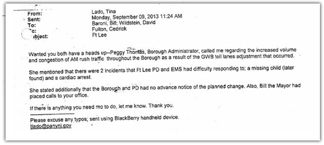 New bridgegate documents, Bill Baroni, David Wildstein