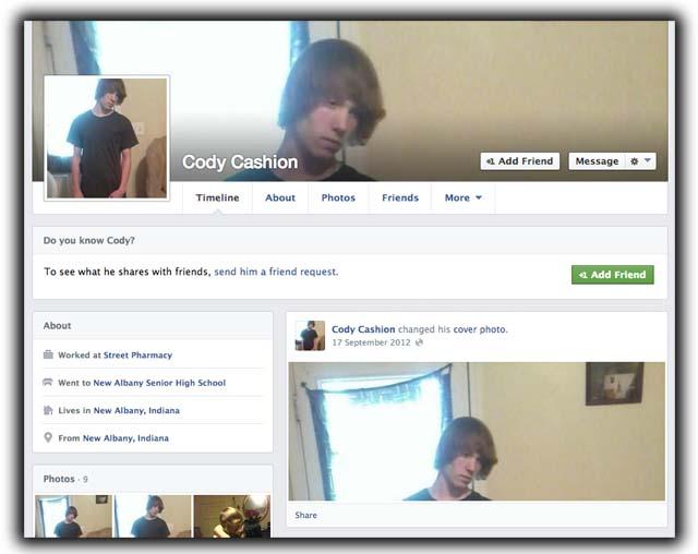 Cody Cashion Facebook Page