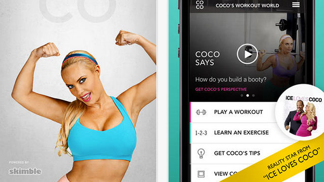 coco's workout world iphone app