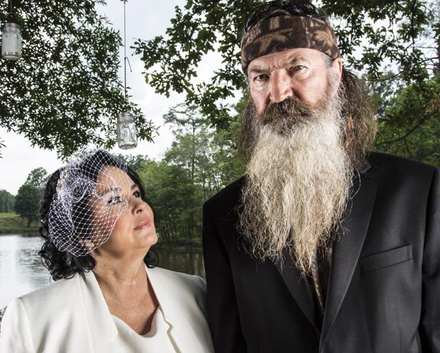 Duck Dynasty wedding, Duck Dynasty Phil, Miss Kay, Kay Robertson, Phil Robertson