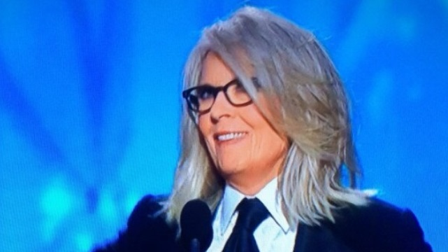Golden Globes Diane Keaton 2014, Golden Globes Woody Allen 2014, Golden Globes Woody Allen No Show Lifetime Achievement Award, Woody Allen Lifetime Achievement Award,