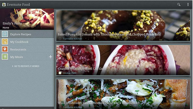 evernote food android app