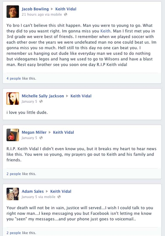 Keith Vidal, Schizophrenic teen shot by police