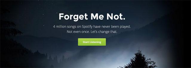 Forgotify, forgotify spotify, forgotify web app